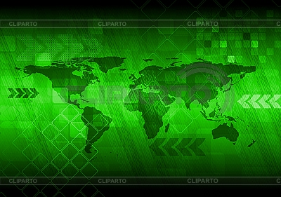 Abstract green background with world map | Stock Vector Graphics |ID 3123649