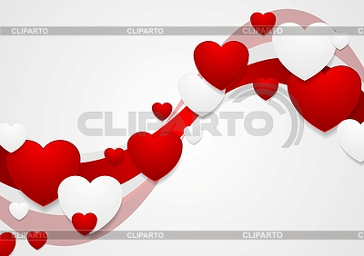 Wavy red and grey Valentine Day background | Stock Vector Graphics |ID 5494690