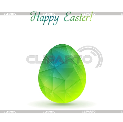Bright polygonal Easter egg background   Stock Vector Graphics  ID 5507336