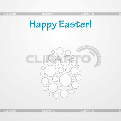 Abstract light grey Easter egg background | Stock Vector Graphics |ID 5522108