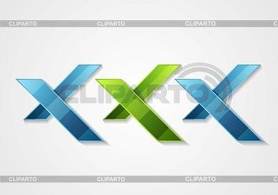 XXX corporate geometric logo design | Stock Vector Graphics |ID 5639430