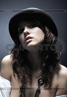 Woman wearing black hat | High resolution stock photo |ID 3023112
