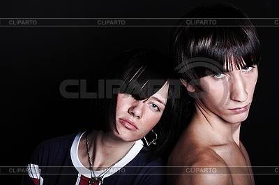 Симпатичная молодая пара с модными прическами | Фото большого размера |ID 3023937