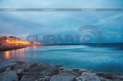 Küste und Atlantischer Ozean nach Sonnenuntergang - Lissabon | Foto mit hoher Auflösung |ID 3023941