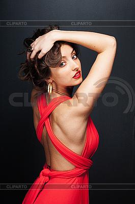 Сексуальная девушка в красном картинки