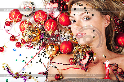 New Year Girl   High resolution stock photo  ID 3024256