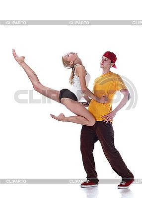Junge Ballerina sprint und junger Hip-Hop-Tänzer | Foto mit hoher Auflösung |ID 3032481