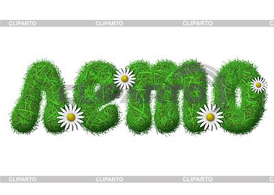 Lato trawa rosyjski napis | Stockowa ilustracja wysokiej rozdzielczości |ID 3024140