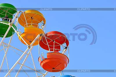 Vivid booth ferris wheel in the sky | High resolution stock photo |ID 3026141