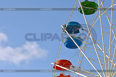Vivid booth ferris wheel in the sky | High resolution stock photo |ID 3026142