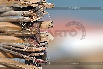 Fragment von gewebten Holz-Gitter | Foto mit hoher Auflösung |ID 3026152
