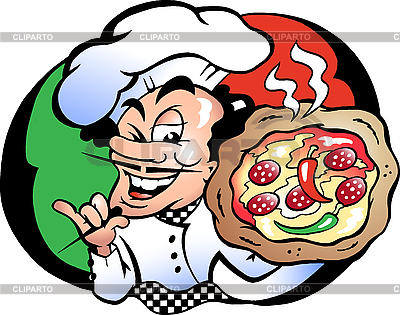 Italien Pizza Baker | Stock Vector Graphics |ID 3031683