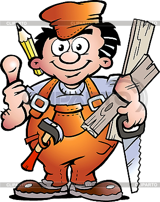 Carpenter Handyman | Stock Vector Graphics |ID 3031685