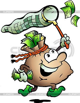 Mann in der Form von Geld-Taschen | Stock Vektorgrafik |ID 3031729
