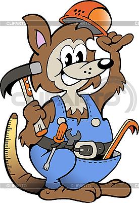 Kangaroo Handyman  | Stock Vector Graphics |ID 3031739