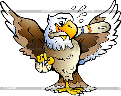 Eagle Playing Baseball | Stock Vector Graphics |ID 3031745