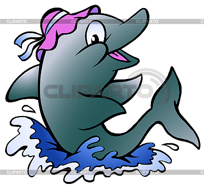 Dolphin playing in the blue | Stock Vector Graphics |ID 3031759