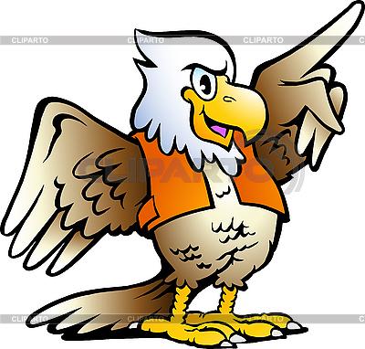Мультяшный орел | Векторный клипарт |ID 3104556