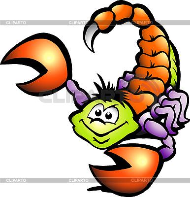 Niebezpieczeństwo Scorpion Cartoon | Klipart wektorowy |ID 3104562