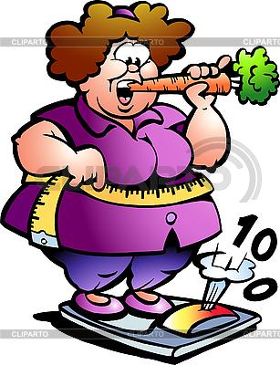 Fat Lady | Klipart wektorowy |ID 3104598