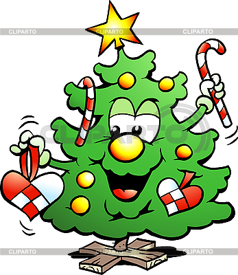 Happy Christmas Tree | Stock Vector Graphics |ID 3104608