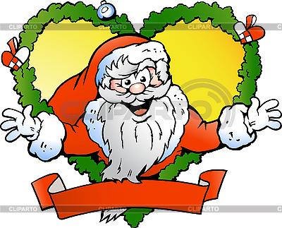 Begrüßung von einem Santa Claus | Stock Vektorgrafik |ID 3104626