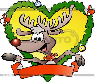 Happy christmas reindeer | Stock Vector Graphics |ID 3293735