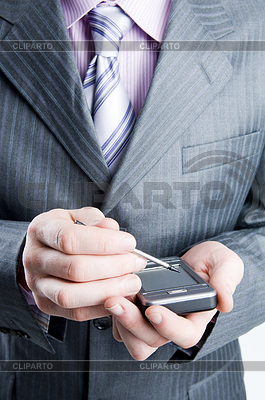 Close-up of businessman in dark gray suit   High resolution stock photo  ID 3284335