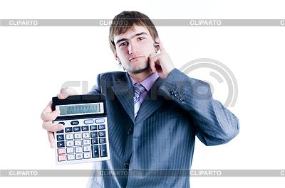 商人,显示与1000 +计算器 | 高分辨率照片 |ID 3284337