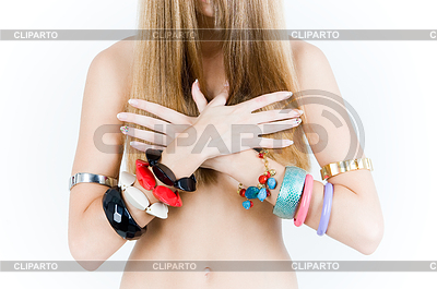 Close-up of girl in bracelets | High resolution stock photo |ID 3288368