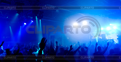 Panoramic photo of people hanging out at concert   High resolution stock photo  ID 3300108