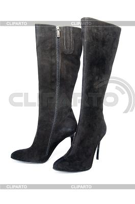 黑色麂皮女靴 | 高分辨率照片 |ID 3300178