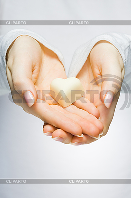 Close-up of hands holding heart | High resolution stock photo |ID 3300195
