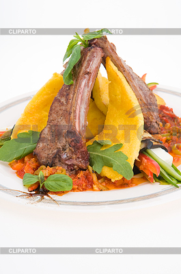 Roasted meat and vegetables | High resolution stock photo |ID 3308377
