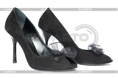 Black female shoes with decorations | High resolution stock photo |ID 3308409