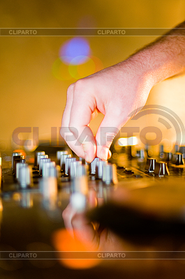 Close-up of deejay's hand   High resolution stock photo  ID 3310193
