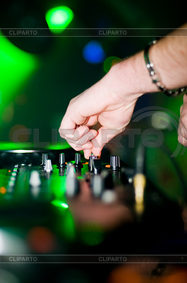Close-up of deejay's hand | High resolution stock photo |ID 3310230