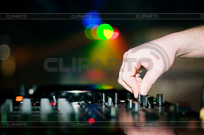 Close-up of deejay's hand and turntable | High resolution stock photo |ID 3320424
