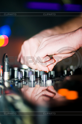 Close-up of deejay's hand | High resolution stock photo |ID 3321024