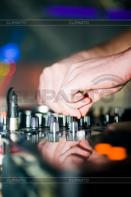 Close-up of deejays hand | High resolution stock photo |ID 3324799