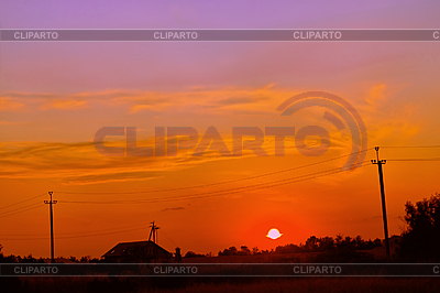 Village sunset | High resolution stock photo |ID 3037850