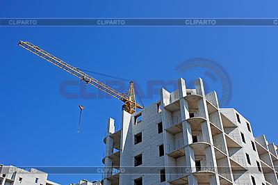 Żuraw na budowie | Foto stockowe wysokiej rozdzielczości |ID 3038768