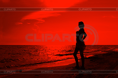 Teenage girl on the beach   High resolution stock photo  ID 3063034