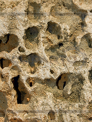 Limestone with deep holes | High resolution stock photo |ID 3065135