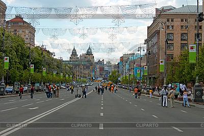 Chreszczatyk. Centralnej ulicy Kijowa | Foto stockowe wysokiej rozdzielczości |ID 3067871