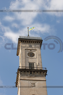 Clock tower against blue sky with clouds | High resolution stock photo |ID 3068141