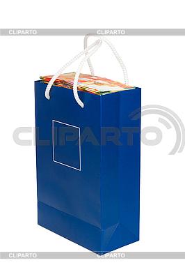 Schekel-Banknoten in einer blauen Tüte | Foto mit hoher Auflösung |ID 3039108