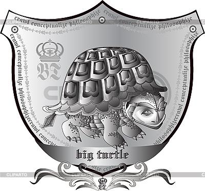 Wappen mit Schildkröte | Foto mit hoher Auflösung |ID 3040601