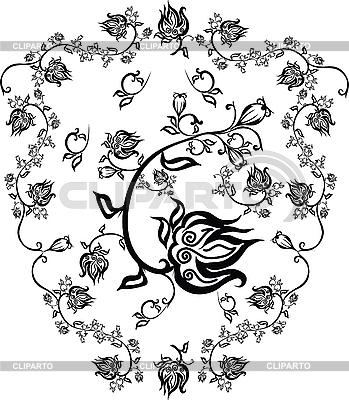 Ornament kwiat | Klipart wektorowy |ID 3065341