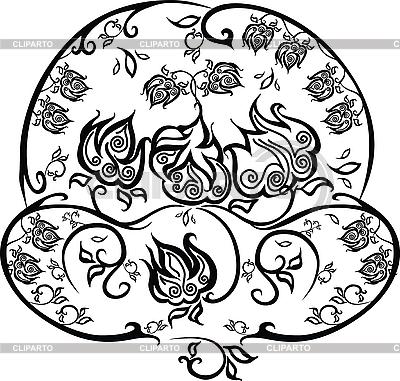 Ornament kwiat | Klipart wektorowy |ID 3065343